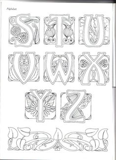 Art Nouveau Alphabet ~ This may be from  Judy Balchin's' book - 3 of 3