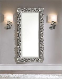 Mirrors on pinterest mirror decorations oval mirror and for Miroir baroque grande taille