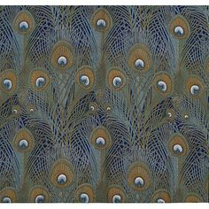 peacock feather fabric from 1887