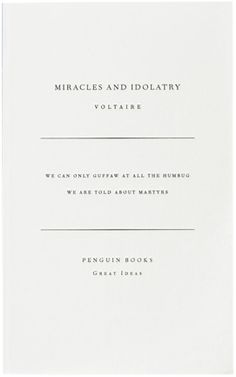 miracles and idolatry designed by david pearson.