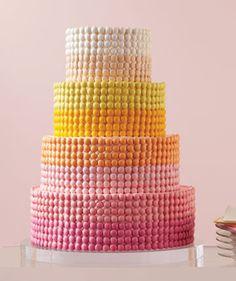 Rainbow m&m; cake