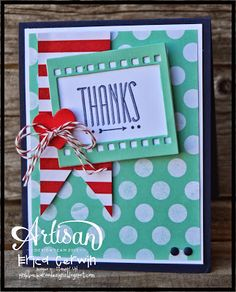 Stampin' Up! Card by By Erica Cerwin #stampinup #HipNotes #OnFilm #FreshPrintsDSP