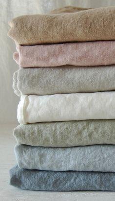 Soft coloured linen
