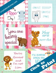 lunchbox note cards for kids