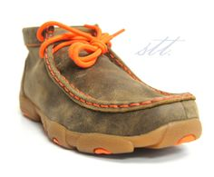 New to STT -- Twisted X Kids' Neon Orange Moccasins | Neon is hot! So are these Twisted X® kid's drivers!  | SouthTexasTack.com