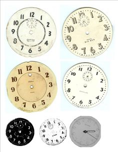 Printable clock faces - shabby chic your own! @Laura Jayson Jayson Jayson Jayson Jayson Jayson Daniels-Mackey