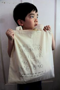 Cotton gift/tote bag - Now I know my ABC's