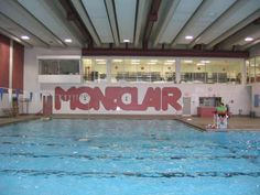 Our elementary school swimming pool & community center.  Montclair Wildcats!