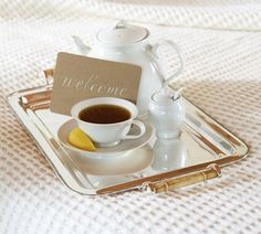 Silver-Plated Breakfast Tray | Pottery Barn