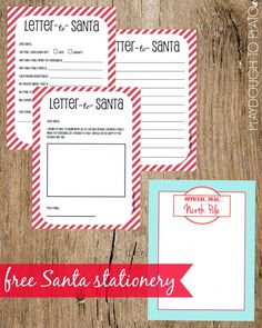 Free Printable Santa Stationery. Such  a fun keepsake to collect year after year!!