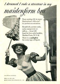 Vintage bra ads- 1949 Maidenform