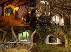 The Hobbit house hobbit hole, home interiors, dreams, dream homes, hobbit home, tree houses, the hobbit, house interiors, hobbit houses