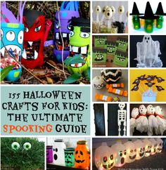 The Ultimate Halloween Guide: Halloween Crafts for Kids, Homemade Halloween Costume Ideas, Halloween Treats, Spooky Decor, and more!!!