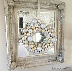 Christmas Ornament Wreath: Make it yourself for under 10 bucks!