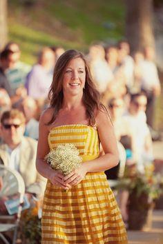 babies breath, bridesmaids, pattern, bridesmaid dresses, bouquets, casual looks, yellow dress, blues, short bridesmaid