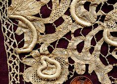 Early Study Fragment Mezzo Punto Needle Lace-detail