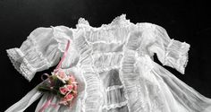 French Antique Christening Gown Entirely Handmade...just Magnificent!