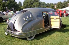 1935 Stout Scarab, streamlined aerodynamic retro futuristic art deco
