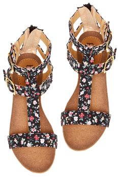 Floral Sandals by Bucco