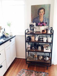 diy kitchen coffee cart / sfgirlbybay