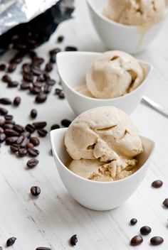 Coffee Ice Cream - I can NOT let another summer go by without using my ice cream machine!! #icecream