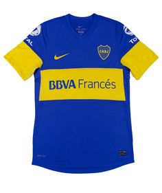 Camiseta de Boca Juniors con el patrocinio de BBVA Francés