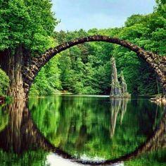 Ancient Bridge in Kolpino, Russia