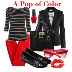 Fashion Friday: A Pop of Color #vegan #fashion #crueltyfree #red