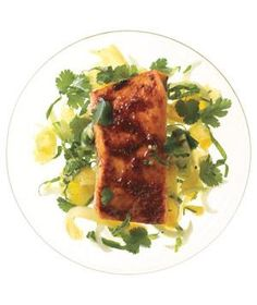Red Curry Salmon With Bok Choy and Pineapple Slaw recipe