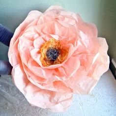 Giant Paper Flowers DIY via Design*Sponge