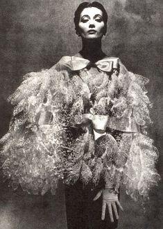 Balenciaga  Model is wearing a Creation Haute Couture of Balenciaga,in 1955.