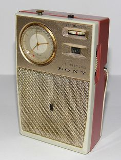 Vintage Sony Watch Transistor Radio, Model TRW-621, Made in Japan, Circa 1962.
