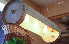 Antique Galvanized Water Boiler Light