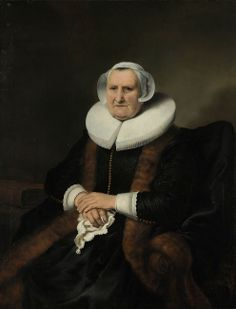 Ferdinand Bol, Portret van  Elisabeth Bas, ca. 1642, olieverf op doekm 118 c 91.5 cm, Rijksmuseum, Amsterdam. Biografie Bol: http://www.artsalonholland.nl/grote-meesters-kunstgeschiedenis/ferdinand-bol