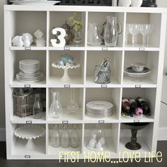 Love what she did with this Ikea Expedit!