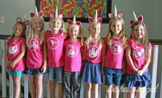 A DIY My Little Pony Party - Cutie mark shirts made with the Cricut