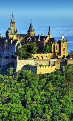 architectur nov, palac, castles, hohenzollern castle, burg hohenzollern, germany stuttgart, stuttgart germany, germani, place