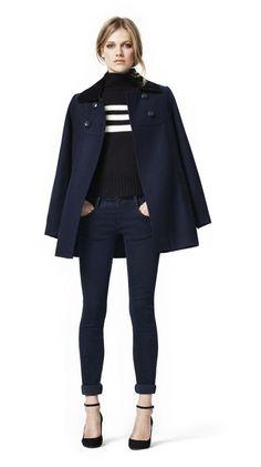 november, fashion, poncho, capes, winter outfits, cape jacket, closet, navy blue jacket outfit, coat