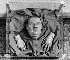 The death mask and gloves of Martin Luther.
