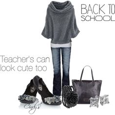 """""""Back to School look For teachers"""" by cindycook10 on Polyvore"""