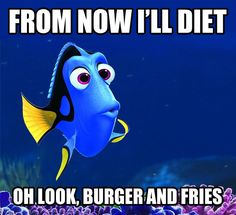 I can diet but oh how I love burgers and fries