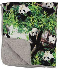 Molo Super Cool Baby Blanket with Fun Panda Print #emilea