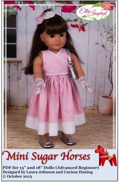 """Mini Sugar Horses Dress 15"""" and 18"""" Doll Clothes"""