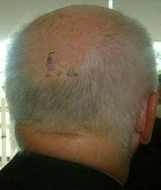 That's one way to embrace hair loss.