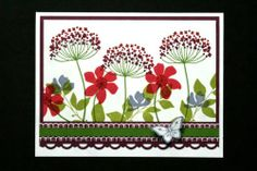 """Card Kit Garden Scene """"Summer Silhouettes"""" All Occasion w Stampin Up Products   eBay"""