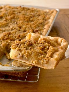 slab apple pie with crumb topping <--yum!!!