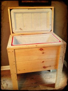 New Wood Ice Chest by InspiredRusticDesign on Etsy