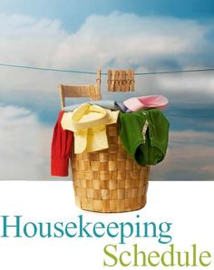 Daily Housekeeping Schedule from Time-Warp wife. Detailed and easy to follow!