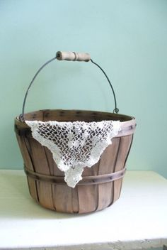 Cute cute cute! You can use these orchard baskets for so many things!