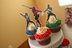 Power Ranger Birthday Cupcakes | Lissables.com
